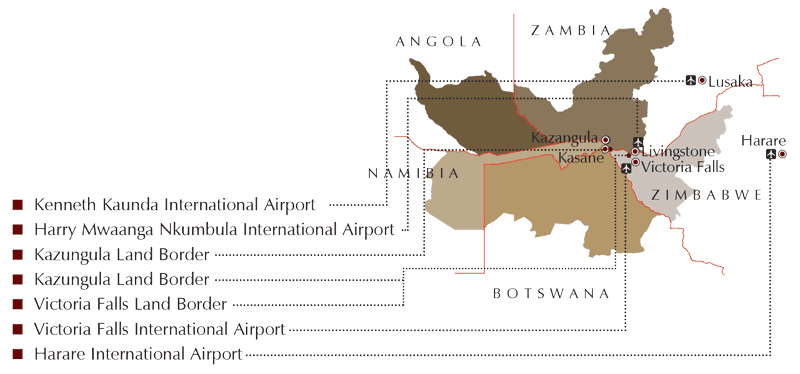 Kaza Visa : points d'accès