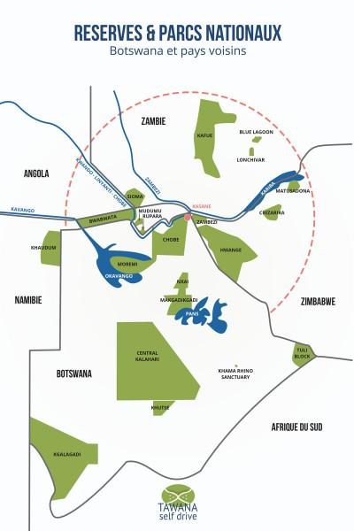 Safaris en 4x4 au Botswana, Zimbabwe, Zambie et Namibie