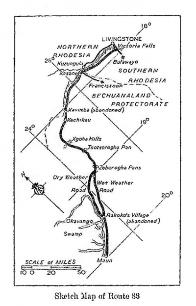 Safaris en 4x4 : carte routière