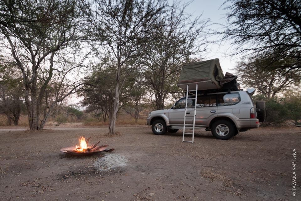 Manger pendant un séjour en camping au Botswana
