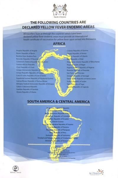 Vaccins au botswana : fièvre jaune