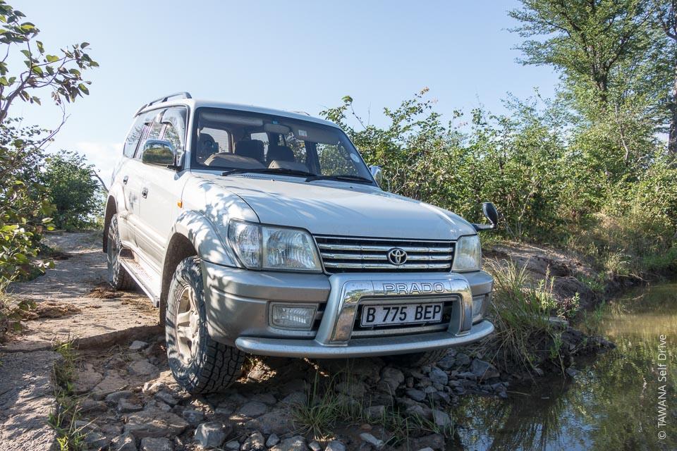 4x4 Prado en safari self drive au Zimbabwe