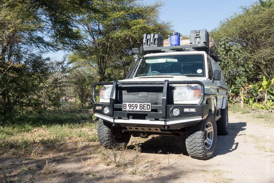 Land Cruiser équipé camping pour le safari self drive