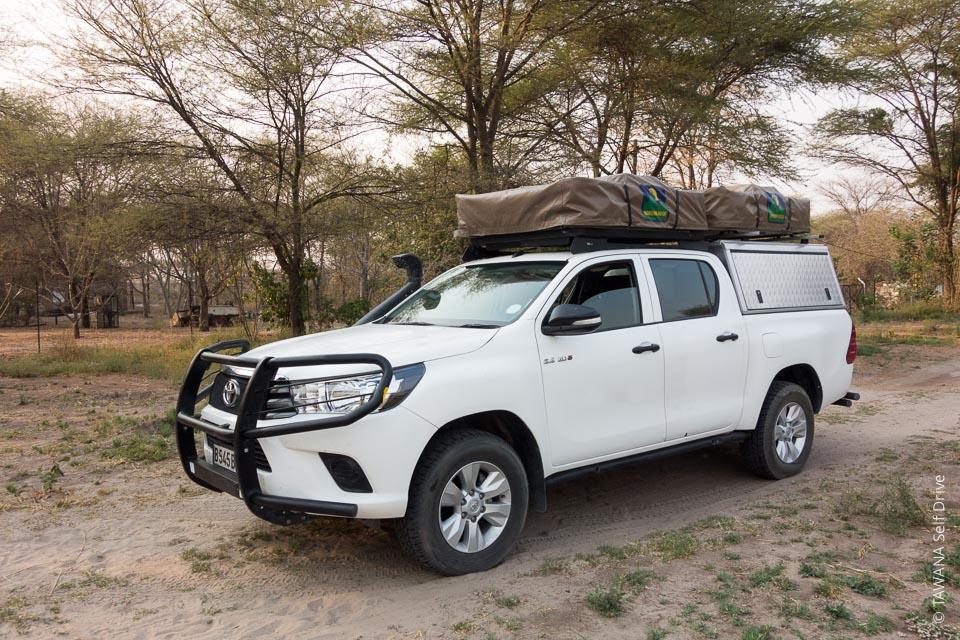 4x4 Hilux en safari self drive au Botswana