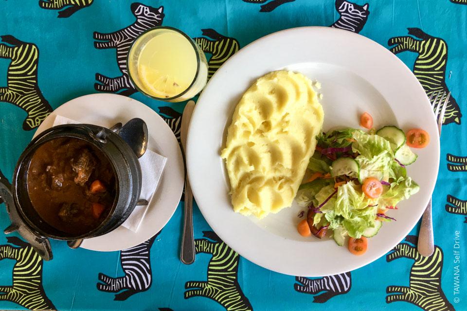 Ravitaillement et restaurants à Maun, Botswana