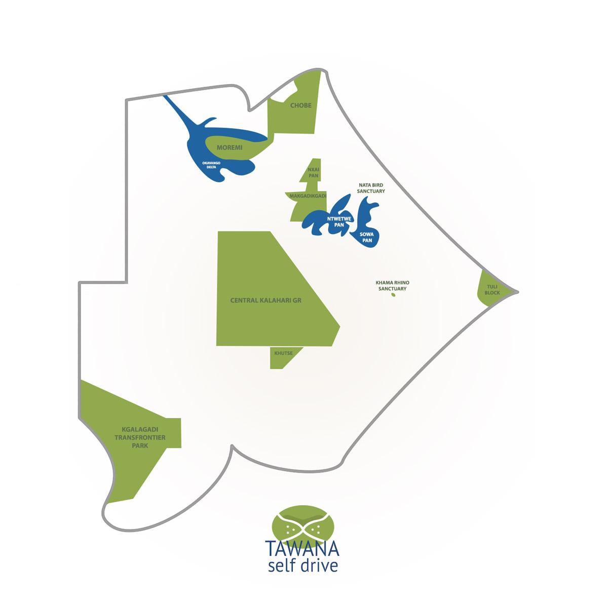 Réserves et parcs nationaux du Botswana