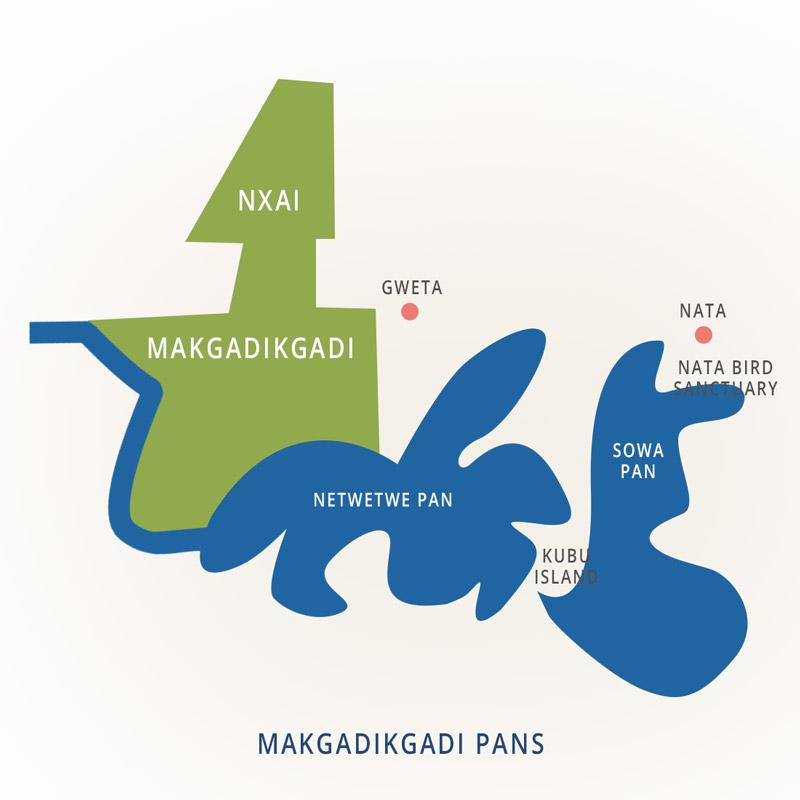 Parcs nationaux du Botswana : Nxai et Makgadikgadi