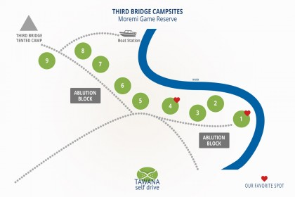 Campings au Botswana : Third Bridge