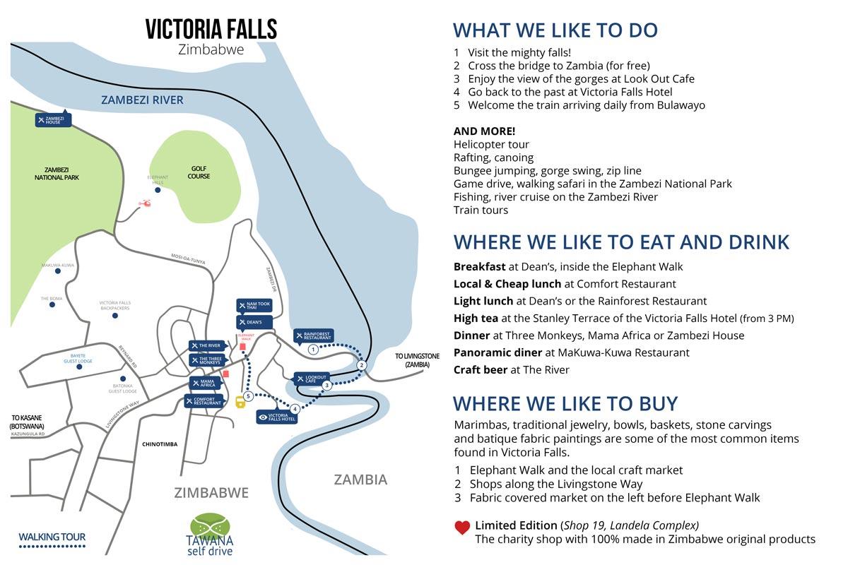 Visiter Victoria Falls : guide Tawana Self Drive