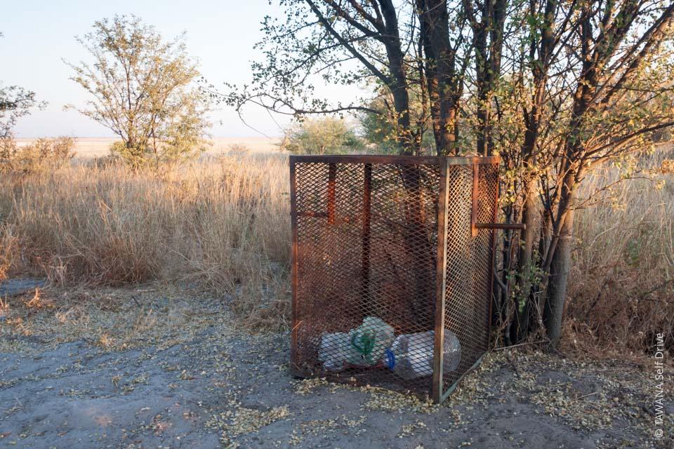 Sécurité dans les campings au Botswana : gestion des déchets