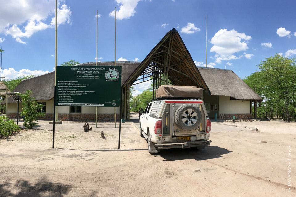 Parcs nationaux et campings au Botswana : Mababe Gate