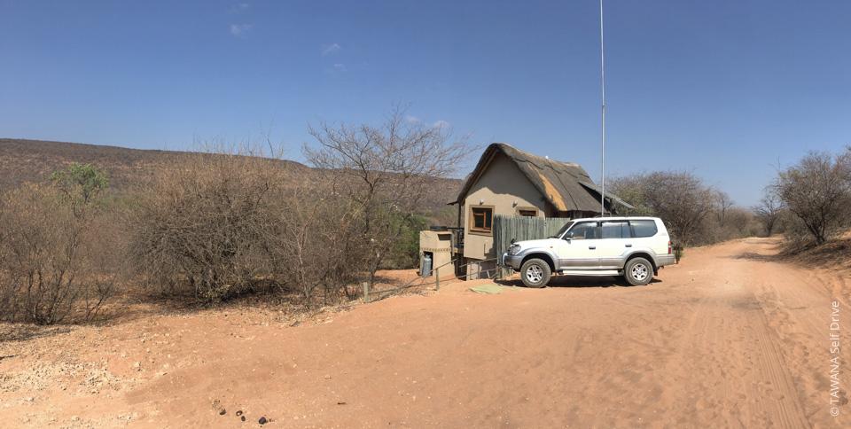 Chalets de Goo-Moremi au Botswana