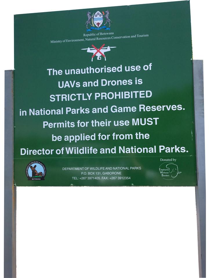 Utiliser un drone au Botswana et dans les parcs nationaux